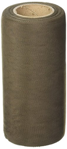 Falk Tulle Fine Maille 15,2 cm Large 22,9 m Spool-Brown