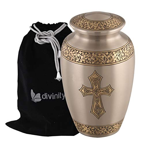 Blessings of Christ Platinum & Gold Cross Urn