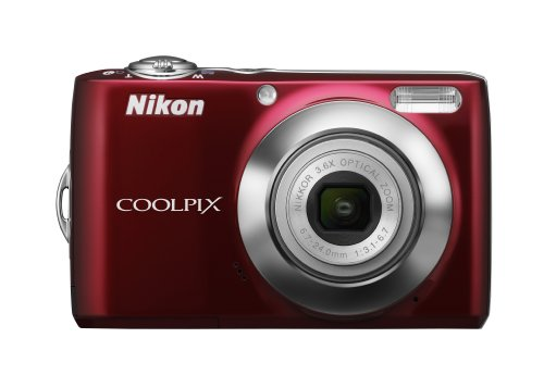 Nikon Coolpix L22 12.0MP Digital Camera with 3.6x Optical Zoom and 3.0-Inch LCD (Red-primary)
