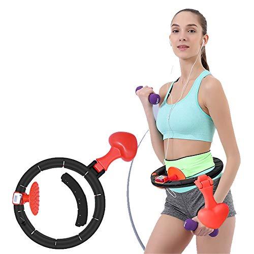 Hoelahoep Met Automatische Rotatie En LCD-Scherm Tellen, Aerobic Fitness Apparatuur Voor Mannen En Vrouwen, Taille Omtrek 24~42 Inch,A