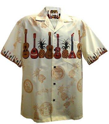 Winnie Fashion Authentieke Gemaakt in Hawaii; Ukulele Gitaar Aloha Shirt