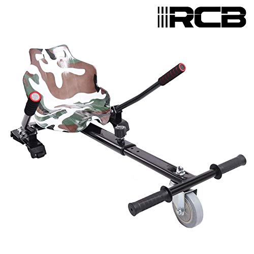 Hoverkart para Patinete eléctrico Asiento Kart para Self Balancing Scooter Longitud Ajustable,...