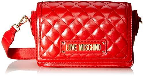 Love Moschino Unisex-Erwachsene Jc4002pp18la0500 Kuriertasche, Rot (Rosso), 14x8x23 Centimeters (W x H x L)