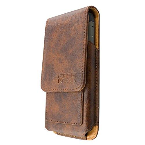 caseroxx Handy Tasche Outdoor Tasche für RugGear RG730, mit drehbarem Gürtelclip in braun