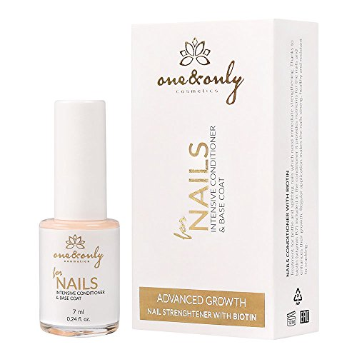 One&Only FOR NAILS - INTENSIVE CONDITIONER & BASE COAT WITH BIOTIN 7ml / 0.24 fl.oz, intensive...