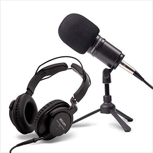 ZOOM ズーム ブロードキャスト品質の高音質マイク モニターヘッドフォン・卓上マイクスタンド・オーディオ編集ソフトWaveLab Cast付属 宅録・ポッドキャスト・ゲーム実況・ライブ配信 ZDM-1PMP