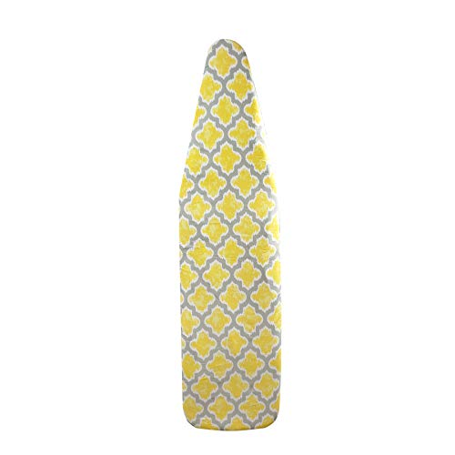 HOMZ 1945066 Replacement Cover and Pad for Standard Width Ironing Board 1315quot W x 5355quot L Yellow Pattern