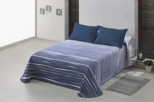 Basic Home Colcha Estampada Narel Azul Cama 135 cm