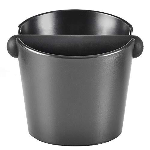 CAFEMASY Abklopfbehälter, Ausklopfbehälter Abschlagbehälter für Barista Kaffeesatz aus dem Siebträger ABS Kaffee Tresterbehälter, Kaffeesatzbehälter mit Abnehmbarer Knock Bar (schwarz) …
