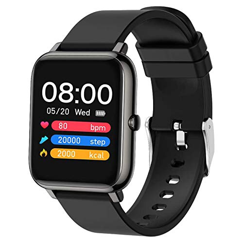 Popglory Smart Watch, Fitness Tracker with Blood Oxygen, Blood Pressure, Heart Rate Monitor, IP67 Waterproof Smartwatch Fitness Watch Smart Watch for Men Women for Android iOS