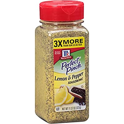 McCormick Perfect Pinch Lemon Pepper Seasoning, 11.37 oz (Packaging May Vary)