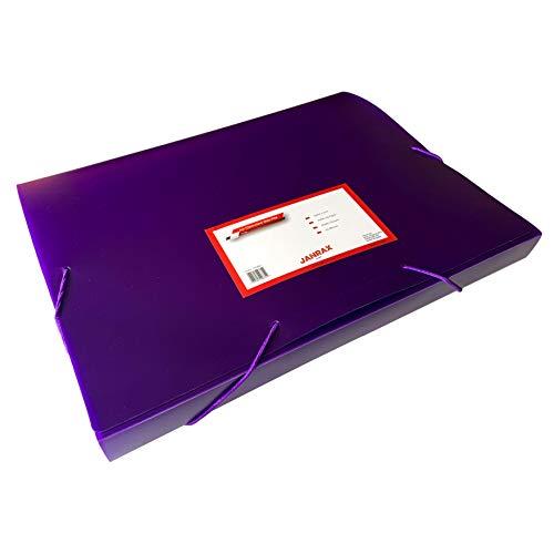Klarsichtmappe, A4, mit Gummibandverschluss, Violett