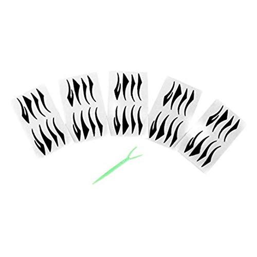 40 Paires Eyeliner Noir Autocollants Magiques Eyeliner Faux Auto-adhésif Invisible À Double Paupière Ruban Fibre Paste Beauté Outils Cosmétiques