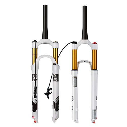 ZNND MTB Horquilla de Suspensión 26/27,5/29 Pulgadas,Ajuste Amortiguación Horquillas Suspensión Aleación Magnesio para Bicicletas Accesorios Bicicleta Horquilla (Color : D, Size : 27.5inch)