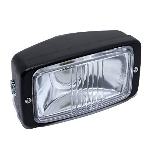 Scheinwerfer Lampe eckig 14cm, schwarz für Mofa Hercules Prima 2 3 4 5 S Optima...