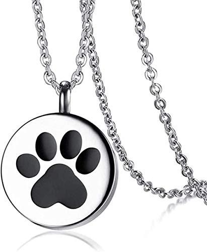 Collar con Colgante de Pata de Gato y Perro Que se Puede Abrir para Acero Inoxidable, Collar de Animales para Mascotas, joyería de 20 Cadenas