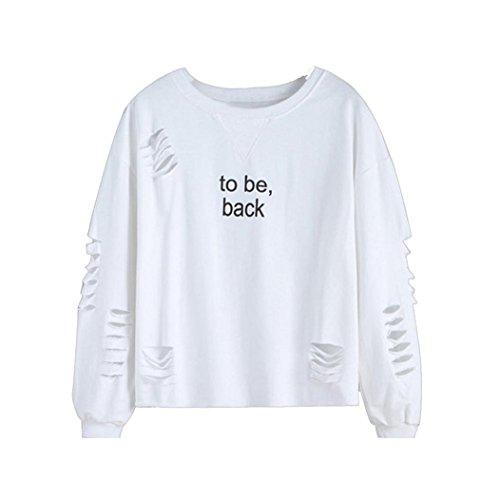 Kolylong Hemd Frauen to be, Back Briefe gedruckt Regelmäßige Hülse Hedging-Bluse...