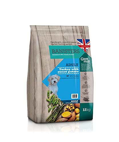 Banisters - Alimenti per cani senza grano – Un alimento per animali domestici completamente ipoallergenico per cani adulti – Turchia (12 kg)