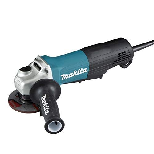 Makita GA4050R 100mm Angle Grinder with Anti Restart Function, 1300W powerful Motor with Paddle Switch Trigger