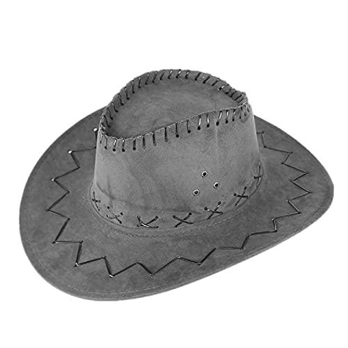 Sombrero Mongol Gorra de Parasol de pastizales Sombrero de Vaquero con Banda para la Cabeza de Vaca Sombrero de ala Ancha Gorras Frescas para Exteriores