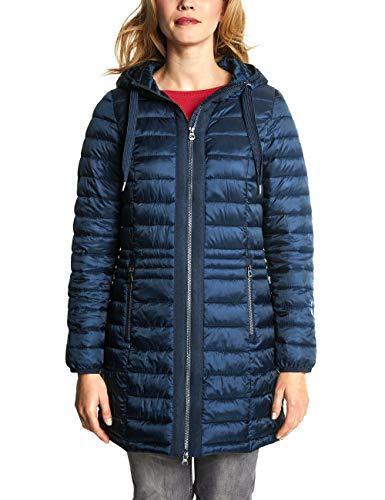 CECIL Damen Mantel 100458, deep Blue, X-Large (Herstellergröße: XL)