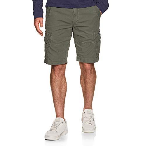 Superdry Herren Core Cargo Shorts, Grün (Draft Olive L1L), 46 (Herstellergröße:32)