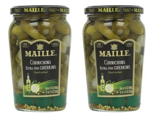 Maille Original Cornichons Gherkins, 13.5 oz (Pack of 2)