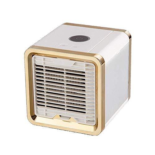 Chenbz Refrigerador de aire de escritorio mini portátil USB Acondicionador de aire del ventilador de refrigeración del ventilador de escritorio personales tranquilo for espacios personales, tales como