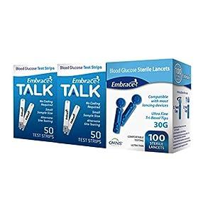 buy  100ct Embrace Talk Blood Glucose Test Strips ... Blood Test Strips