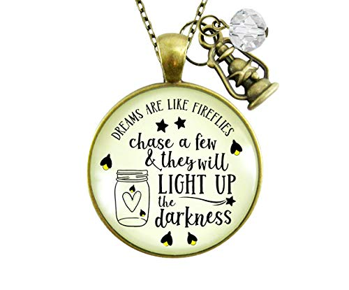"""Gutsy Goodness 24"""" Firefly Necklace Dreams Like Fireflies Southern Rustic Country Womens Jewelry"""