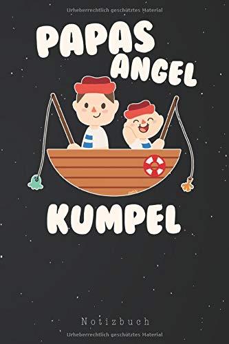 Notizbuch: Angel  Jungen Papa und Sohn Angel Papas Angel Kumpel Notizbuch | Notizblock als Geschenk-Idee | 110 Seiten Journal | Liniert, Kladde im A5 Format