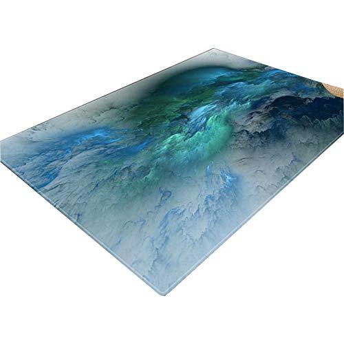 3D Vision Teppich Einfache Nordic Wohnzimmer Sofa Couchtisch Decke übertriebene Kreativer Hauptteppichboden Schlafzimmer 3D-Illusion Mat Rutschfester Teppich
