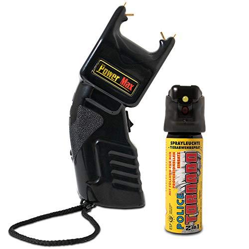 SHD – Elektroschocker mit 500.000 Volt im Set mit 63ml Jet Pfefferspray - mit PTB Zulassung zur Tierabwehr