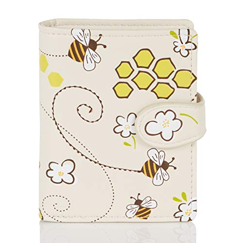 SHAGWEAR ® Portemonnaie Geldbörse Damen Geldbeutel Mädchen | Bifold Mehrfarbig Portmonee Designs: (bee)