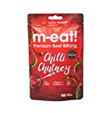 m-eat! Premium Beef Biltong | High Protein, Low Carb Snack - Chilli Chutney, 10 x 35g Pack