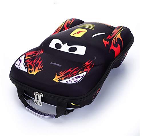 HLiang Kid's Backpack 3D Emulational Car Comic Cartoon School Backpack Cool Children Bookbag (Black)