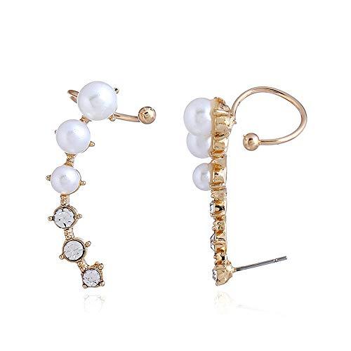 Pendientes de Personalidad de Moda Pendientes de aleación de Zinc de Perlas de Diamantes de imitación Pendientes de botón únicos, Joyería de botón de Oreja para Mujeres niñas, Hermosos y exquisitos