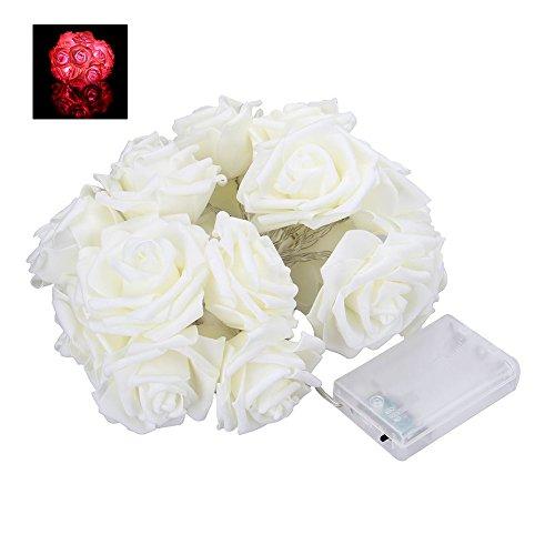 2m 20LED a batteria rose Flower Fairy string Lights wedding Room Garden decorazione natalizia Pink