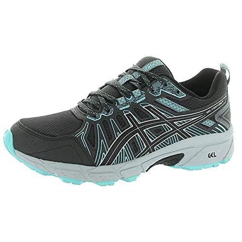 ASICS Women's Gel-Venture 7 Running Shoes, 6, Graphite Grey/Black/Blue