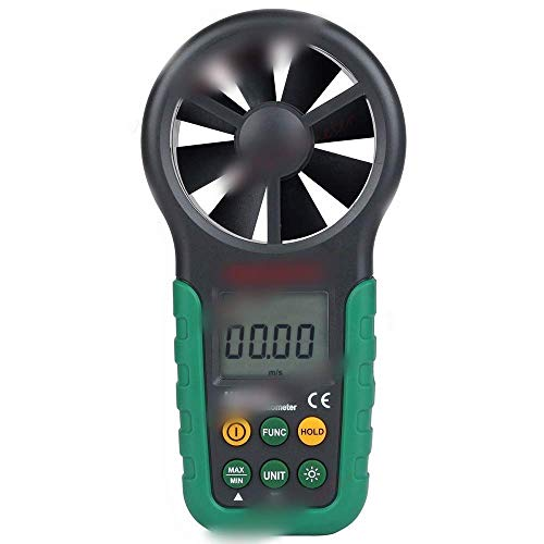 IGOSAIT Anemómetro digital multifuncional medidor de velocidad de viento de mano medir con precisión la velocidad del viento con medidor de temperatura