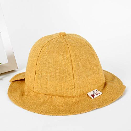 geiqianjiumai Nieuwe kinderen zonnekap wastafel cap licht versie pure kleur jongens en meisjes visser hoed