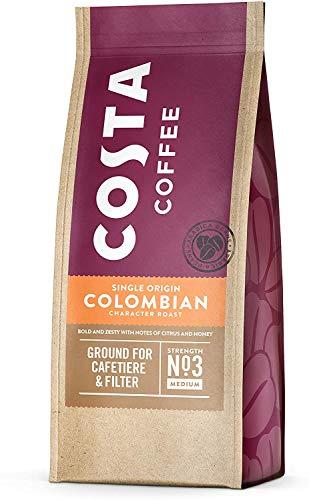 Costa Coffee Roast and Ground Single Origin Colombian Character Roast, 200g