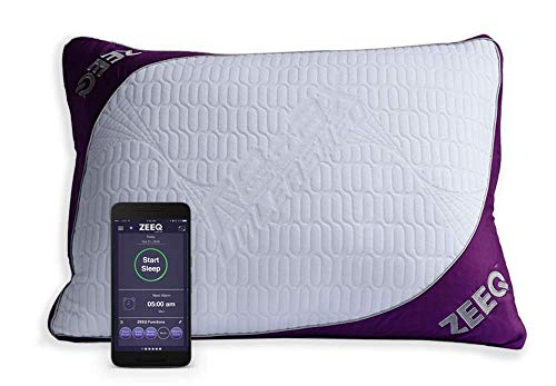 REM-Fit ZEEQ Smart Pillow - Track Sleep, Stream Audio, Smart Home Connected for Home Automation (ZEEQ Smart Pillow)
