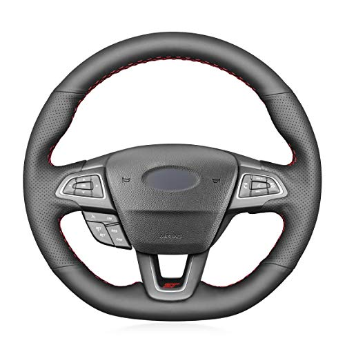 MEWANT Lenkradhülle Leder für Ford Focus (ST | RS) 2015-2018 / Lenkradzubehör für Ford Focus ST RS