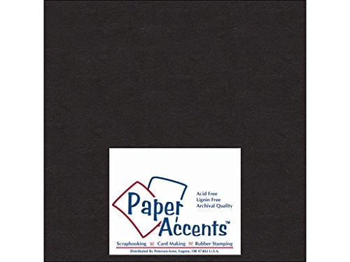 Accent Design Paper Accents Chpbrd Chipboard 8x8 1X Heavy 50pt Black