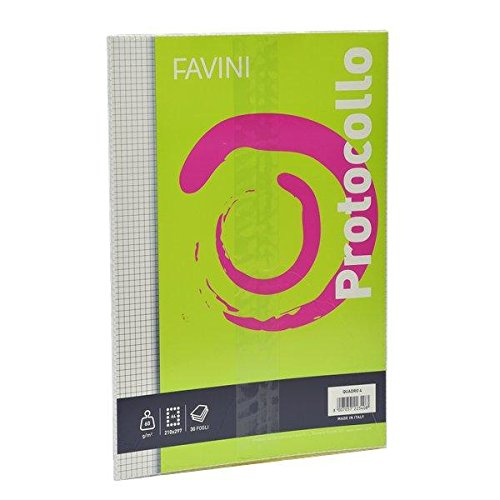 Favini A544414 Fogli Protocollo, 60g, Confezione da 30