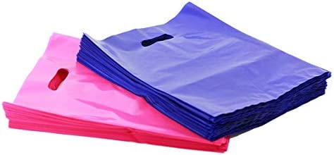 """Pack It Up 200 9"""" X 12"""" Medium Size Pink and Purple Merchandise Bags, Die Cut Handles, Premium Extra Thick, Strong, D..."""