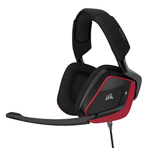 Corsair VOID Elite Surround Premium Gaming Headset with 7.1 Surround Sound - Works with Xbox Series X, Xbox Series S, Playstation 5 - Cherry