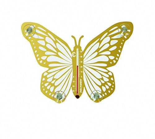 Pluto Produkter Butterfly Innen/Außen Liquid Environment Thermometer Gold
