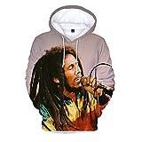 UBUB 2021 Hoodie Reggae Singer Harajuku Streetwear Hoodie Bob Marley 3D Druck Hoodie Sweatshirt Herren Damenmode Casual Pullover